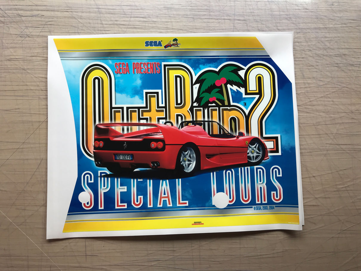 Outrun 2 SP Side Art
