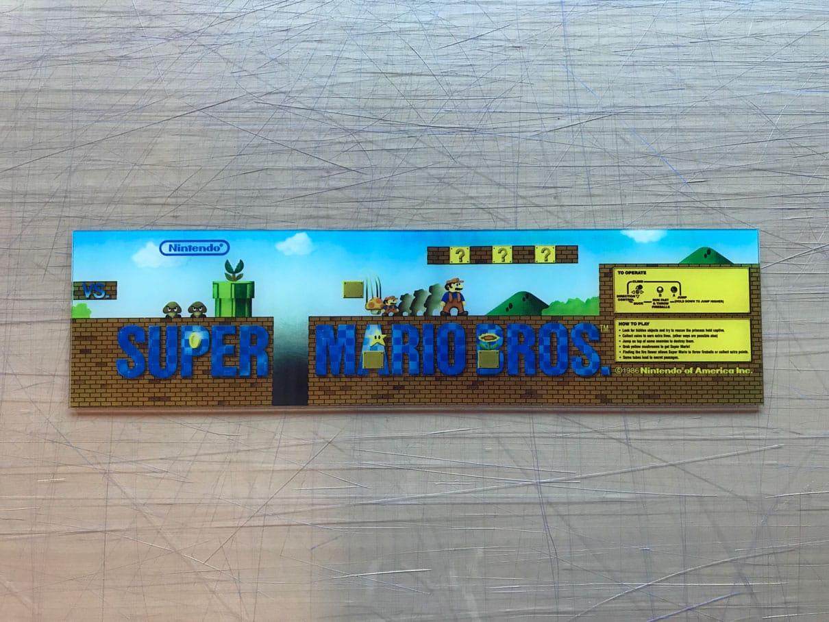 Nintendo Vs Mario Bros Marquee Arcade Art Repro
