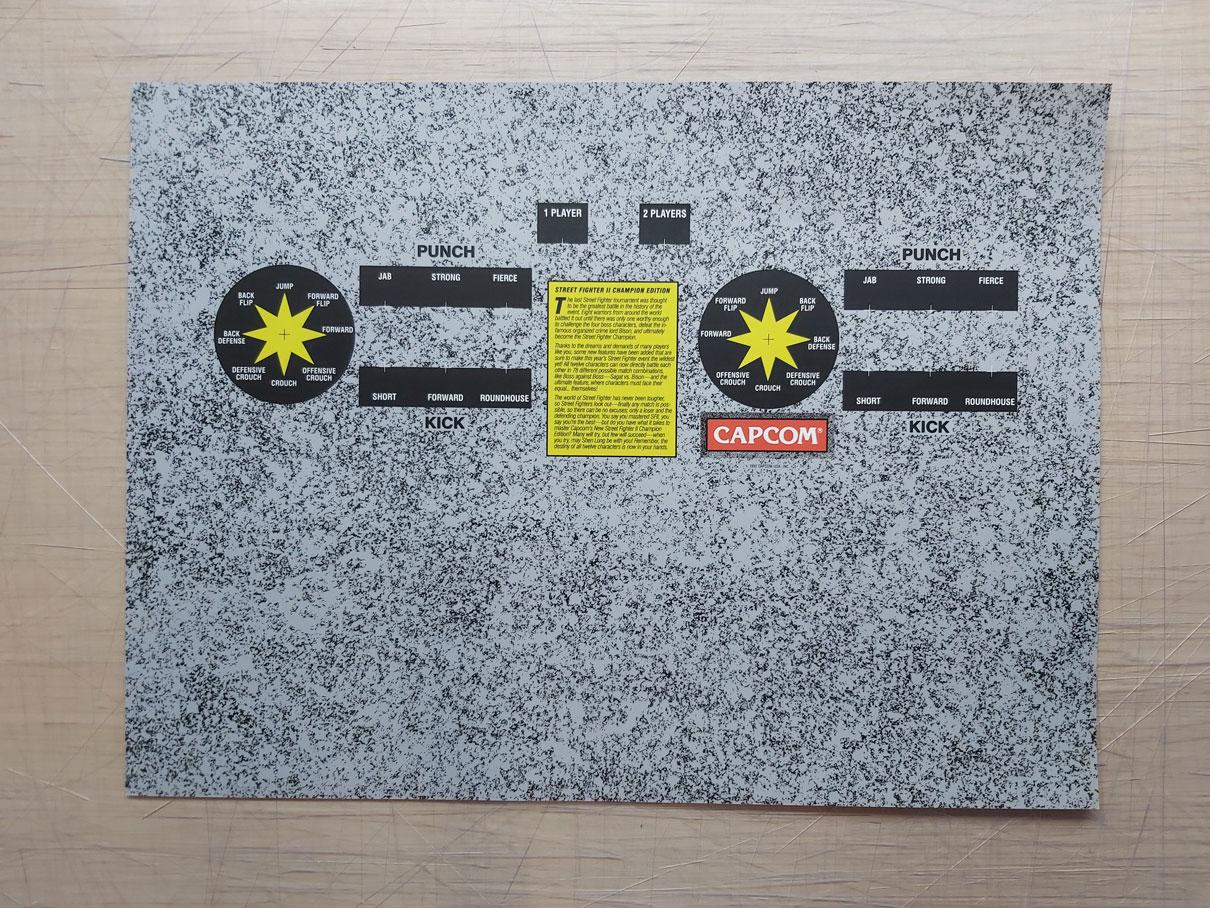 Street Fighter 2 Arcade Control Panel Overlay